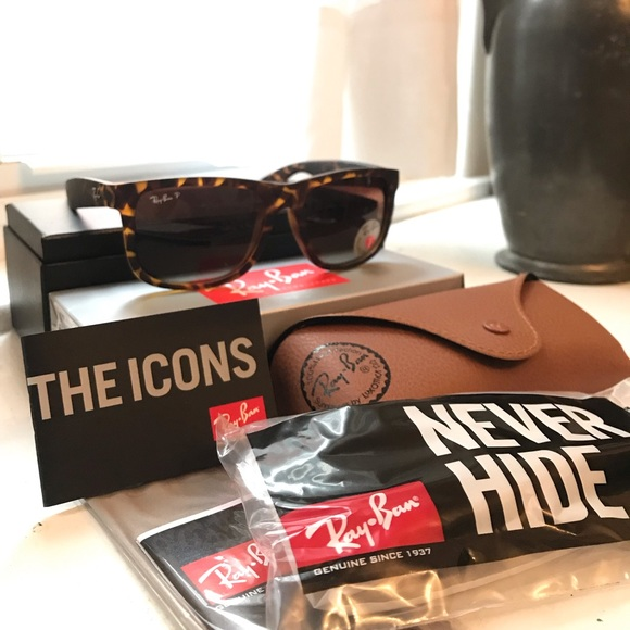 Ray-Ban Other - Ray-Ban Polarized Justin Sunglasses Tortoise NWT